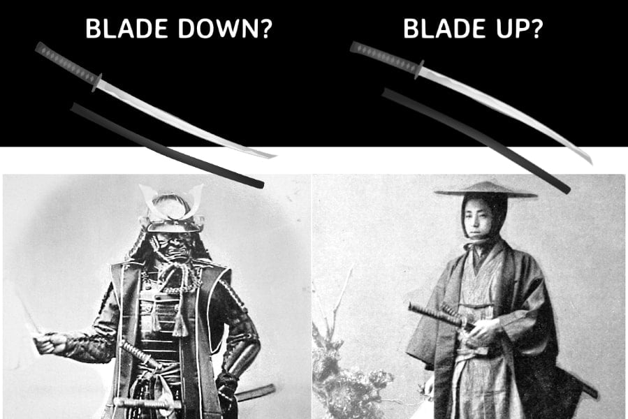 What Is The Proper Way To Wear A Samurai Sword Blade Up